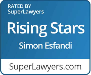 Rated by Super Lawyers Rising Stars Simon Esfandi