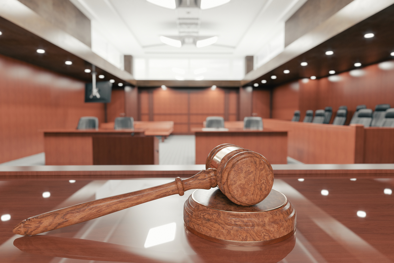 personal injury trial courtroom