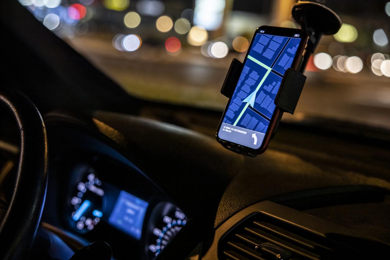 uber driver on app